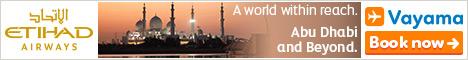 Vayama - Etihad Airways: Find great deals to Abu Dhabi, India and beyond