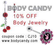 10% Off all Body Jewelry at bodycandy.com