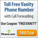 Toll Free Vanity Number Coupon