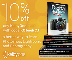 10% off KelbyOne Books