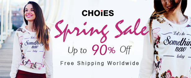 Spring Fashion Up To 90% Off at Choies, Free Shipping