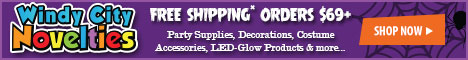 Free Shipping on Halloween Accessories, Party Supplies and Glow Products with $69 Order at W