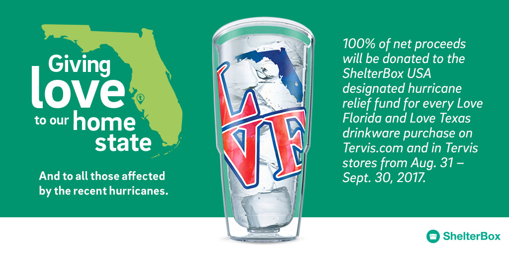 For Every Love Florida Drinkware Purchase on tervis.com, Tervis Will Donate 100% of Net Proceeds to