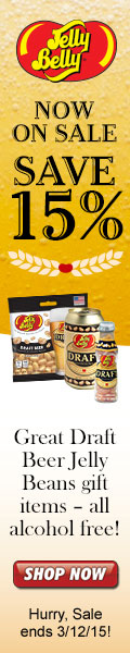Save 15% on Non-Alcoholic Draft Beer jelly beans just in time for St. Patrick's Day! Offer ends 3/12