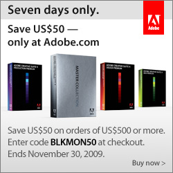 Save $50 on Adobe orders of $500: BLKMON50