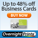 30% off 1,000 Business cards. Up to 48% off other