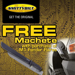 Free machete with purchase of set of M1 fender flares