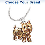 Diamond Dog Pendant Necklace Choose Your Breed