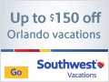 Save up to $150 on flight + hotel vacation packages to Orlando
