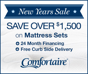 Save $1,500 Comfortaire New Year Sale