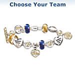 NFL Charm Bracelet With Swarovski Crystals: Choose Your Team