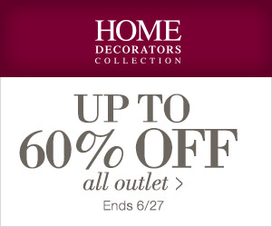 Extra 20% off all outlet at Home Decorators Collection. Ends 6/27