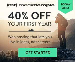40% Off of Media Temple Annual Hosting Plans