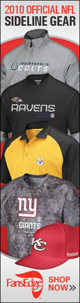 Official 2010 NFL Sideline Gear