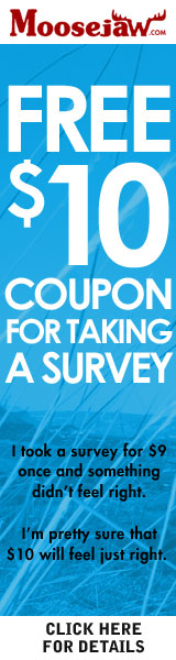 Free $10 coupon for taking a Moosejaw Survey!