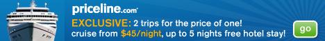 Бронирование КРУИЗОВ ОНЛАЙН: круизы по всему миру, лучшие круизные линии, большой выбор вариантов! Priceline Cruises - Choose from over 150 ships!