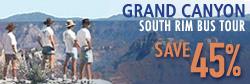 Save 45% on a Grand Canyon South Rim Bus Tour!