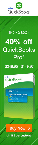 Starts 9/1 - QuickBooks Pro Sale, Take up to 40% off! Ends 9/4.
