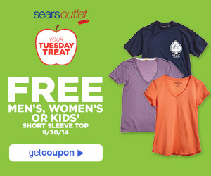 Free Short Sleeve Top at Sears Outlet Today ONLY!