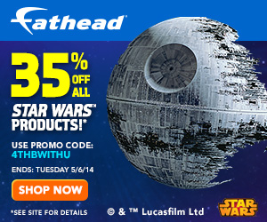 Save 35% On All Star Wars Products! Use Promo Code: 4THBWITHU at Checkout!