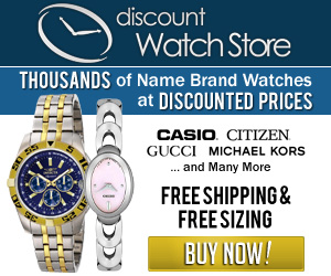 Thousands of name brand watches at discount prices!  DiscountWatchStore.com