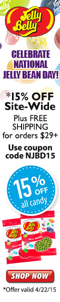 Celebrate National Jelly Bean Day! 15% OFF + Free Ground Shipping on orders $29+. Use code: NJBD15.