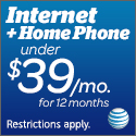 AT&T High Speed Internet & Home Phone $49.95/month for 12 months