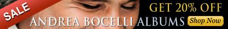 Andrea Bocelli On Sale At Ariama.com!