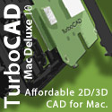 TurboCAD Mac Deluxe - design anything with complete 2D/3D design tools.