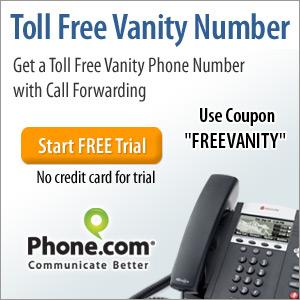 free vanity number