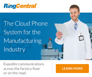 RingCentral Office - All-Inclusive Cloud Phone System for the Manufacturing Industry.
