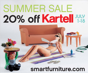 Get 20% off on all Kartell products until July 18t