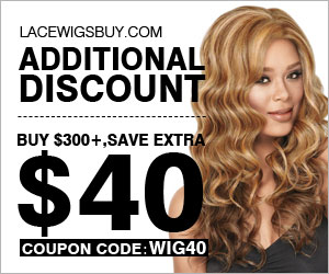 Lacewigsbuy coupon discount $40 off when buying over $300 active and latest