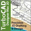 TurboCAD Designer Mac - precision 2D drafting and design.