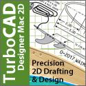 TurboCAD Mac Designer 2D - precision 2D drafting and design for the Mac.