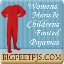 Big Feet - PJs with feet for Men, Women, Kids - Flannel, Fleece and Jersey Knit - Footies mean warm tootsies!