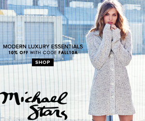 New Fall Collection has Arrived at Michael Stars! Save 10% OFF Sitewide! Code: FALL10A. Offer ends 1