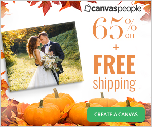 70% off all Canvases and $4.99 shipping!