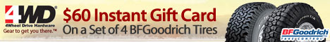 $60 Instant Gift Card on any set of 4 BFGoodrich T