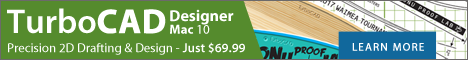 TurboCAD Mac Designer - precision 2D drafting and design.