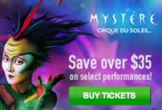 Mystere by Cirque du Soleil - Save Over $35 on Select Performances!