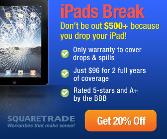 Save 20% on an iPad Warranty