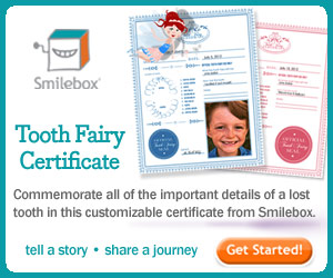 Tooth Fairy Certificate from Smilebox