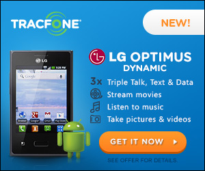 Android LG Optimus Dynamic only $99.99 with Triple Talk, Text and Data using TracFone promo codes!