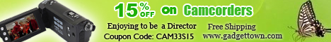 15% off on Camcorders at GadgetTown.com