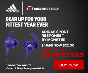 adidas Sport Response by Monster now only $22.00 ($49.95 MSRP) at MonsterProducts.com! (Valid 12/26