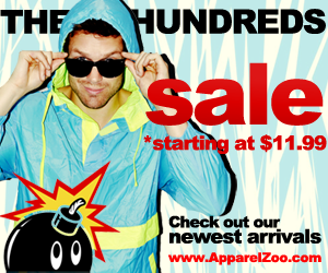The Hundreds On SALE at ApparelZoo.com!