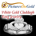White Gold Claddagh Ring Jewelry
