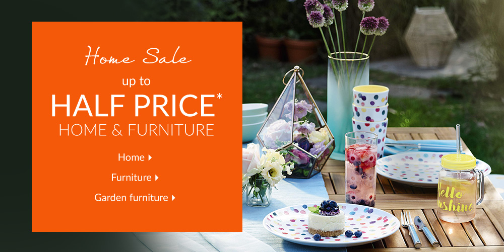 Up To Half Price* Home Sale