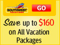 Southwest Airlines Vacations - Save up to $160 when you book a flight + hotel vacation package to any Southwest Vacations destination. Use promo code: SPRING20.
